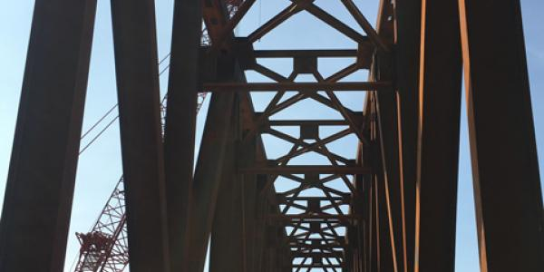 BNSF Truss Bridge over I-235